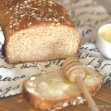 Honey whole wheat bread with Oats – Oh Goodness