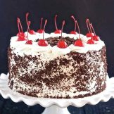 Best Black Forest Cake   With Cherries and whipped cream