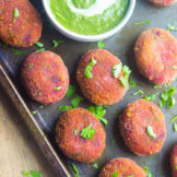Crispy Vegetable Cutlets | Beetroot Cutlets with Green Chutney