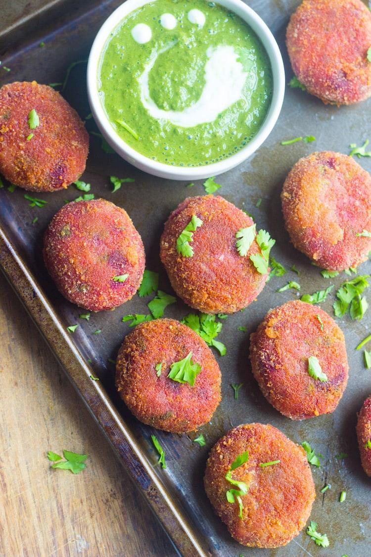 crispy vegetable cutlets beetroot cutlets