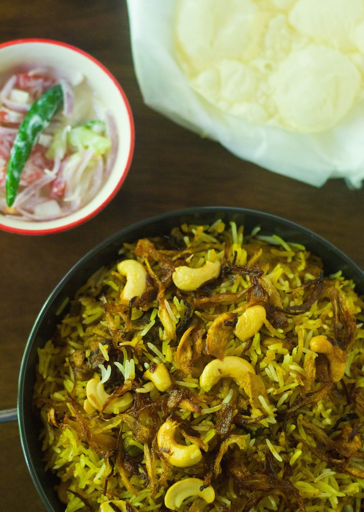 hyderabadi chicken biryani, biriyani, biryani recipe, how to