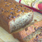 Extremely moist banana nut bread with (creme fraiche or Sour cream or yogurt)