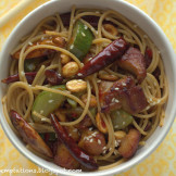 Easy kung Pao style spaghetti