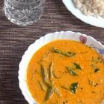 shrimp and raw mango curry, kerala shrimp curry