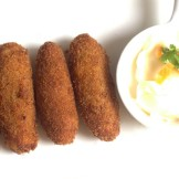 Shrimp and cheese croquettes / shrimp cutlets – or try potato and cheese croquettes