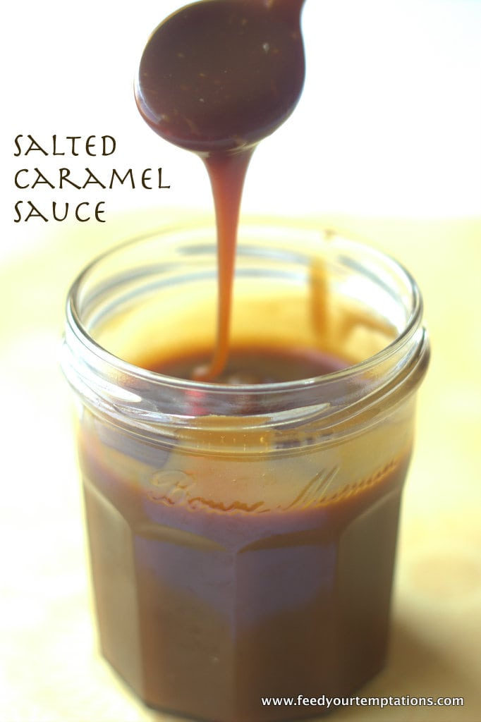 salted caramel sauce, homemade caramel sauce, caramel sauce