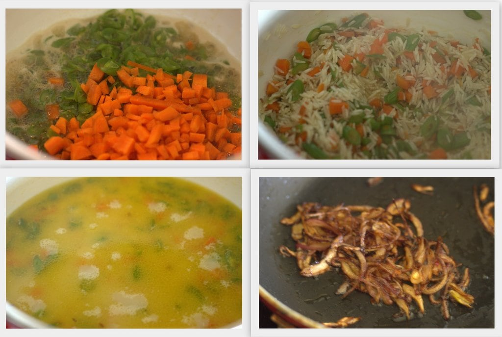 veg pulav collage