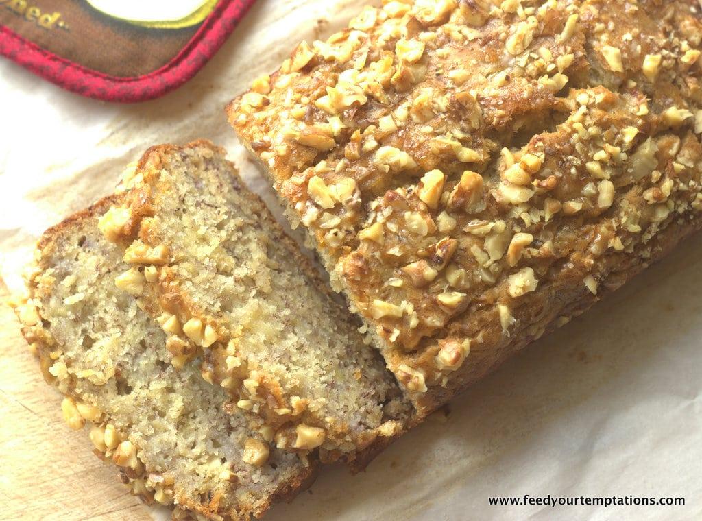 vegan banana bread, eggless, eggless cake,