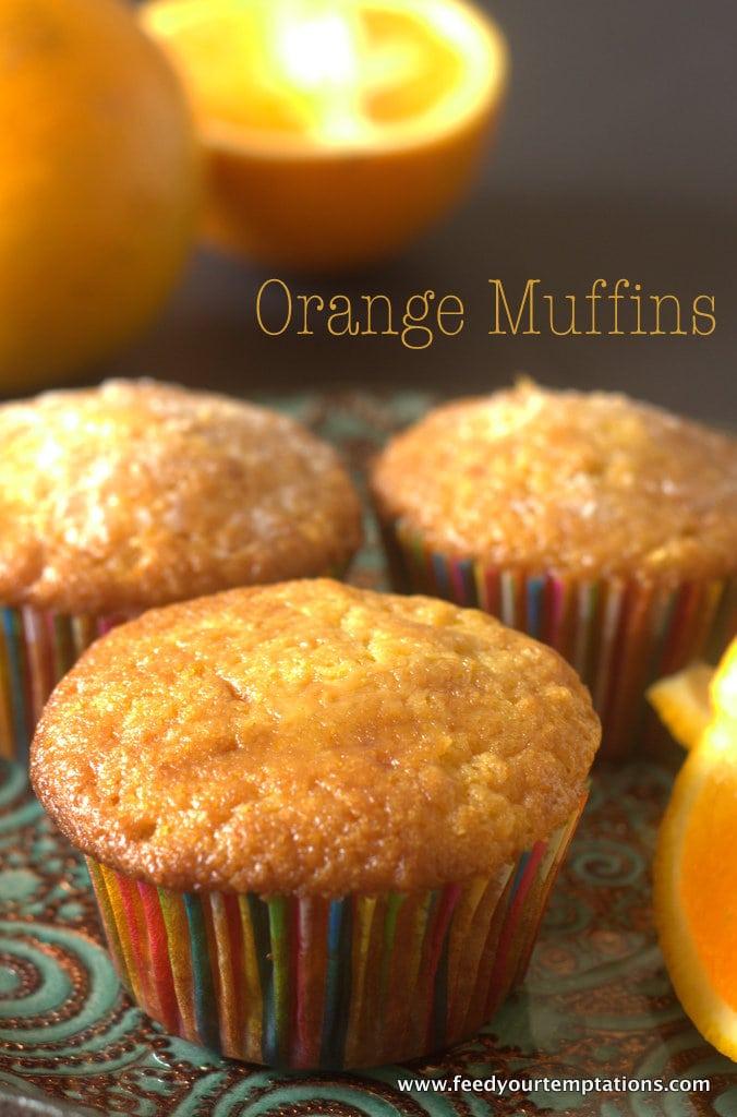 Fresh Orange Muffins With Orange Zest And Orange Juice