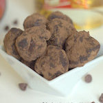 rum truffles, truffles with chocolate chips