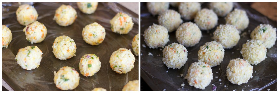 arancini, arancini recipe, arancini recipe with rice, rice balls, leftover rice recipe, cheese balls