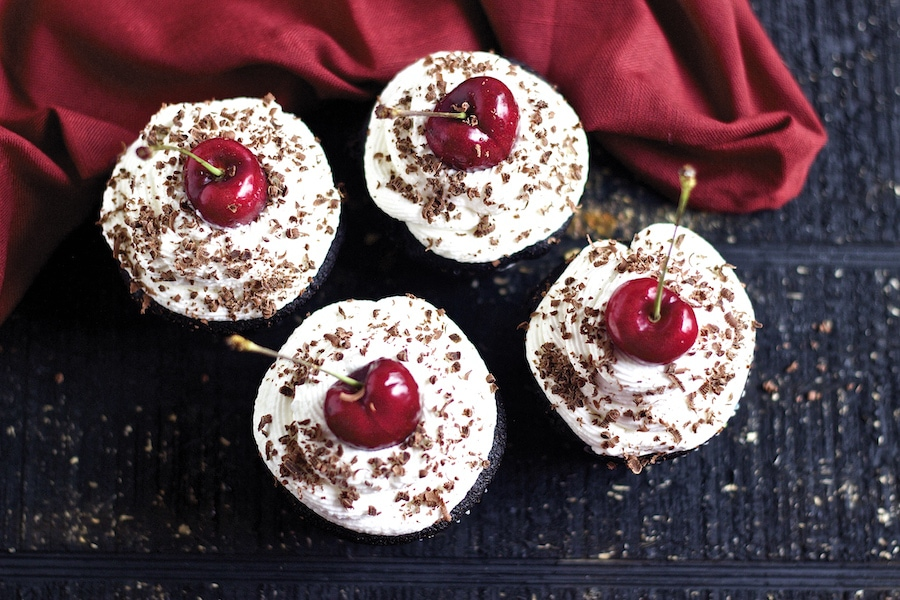 black forest cupcakes, recipe, black forest cupcake recipe, best, moist