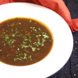 Tomato and Tamarind soup (Rasam)