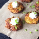 Potato and Cheese Latke – With other options to choose from