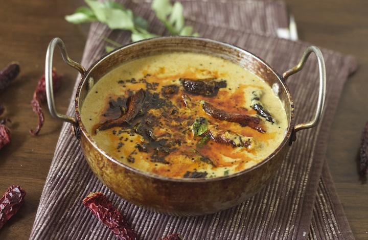 Mambazha Pulissery, mango pullissery, ripe mango curry, pazham manga pulissery, mango moru curry