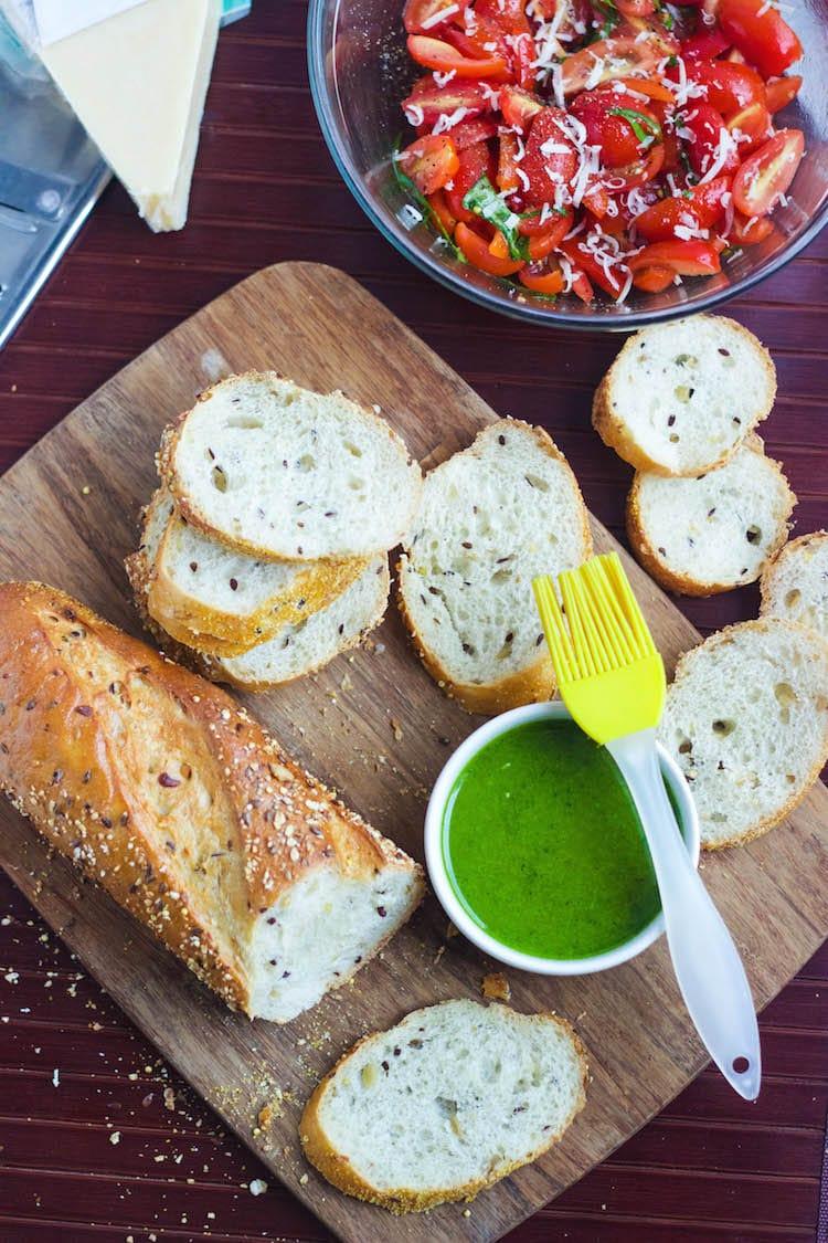 bruschetta with garlic crisp recipe
