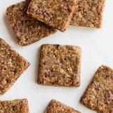 Healthy breakfast bars | Dried fruit energy bar recipe | No Bake