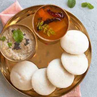 Idli with rice flour