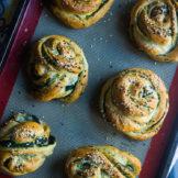 Spinach Stuffed Swedish rolls