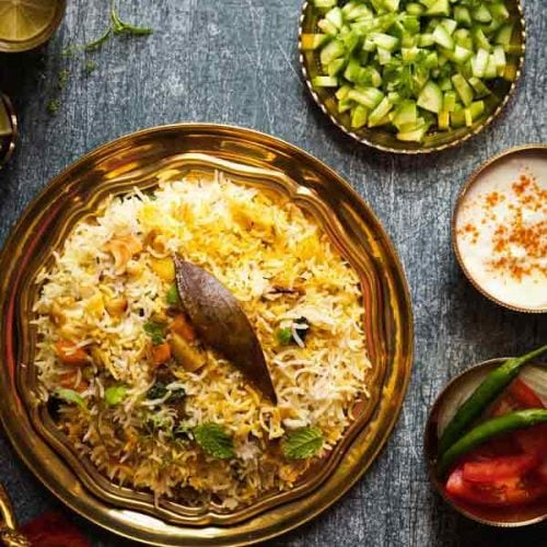 Vegetable Biryani Recipe Hyderabadi Veg Biryani Recipe Dum Biryani