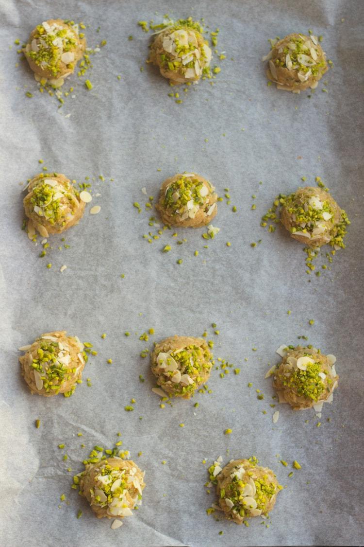 almond butter cookies, badam cookies, pistachio cookies, nut butter cookies, teatime cookies, best cookies, gourmet