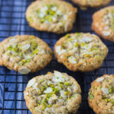 Almond Butter Pistachio Oatmeal Cookies