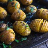 Spicy Hasselback Potatoes | Tadka Marke