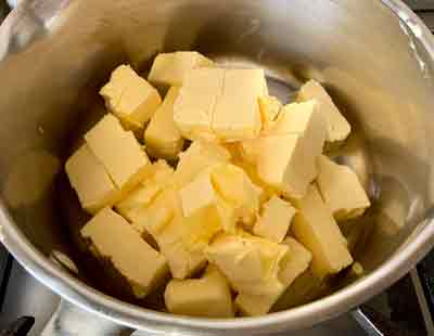 clarified butter step 1
