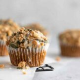 Easy Pumpkin Muffins Recipe | with best crumb topping