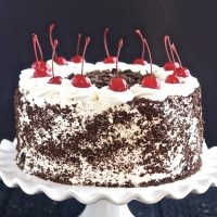 Best Black Forest Cake | With Cherries and whipped cream