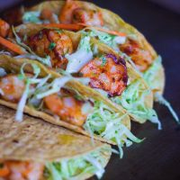 Shrimp Tacos - With Cilantro Garlic Mayo